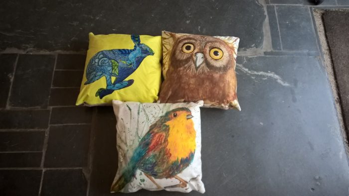 wraptious, cushions, artwork on cushions
