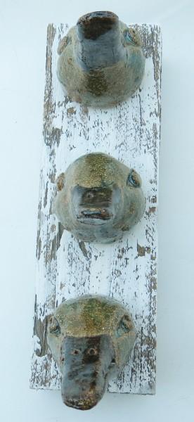 ducks, ceramic birds, wall plaque, wall hanging, stoneware, jane adams ceramics