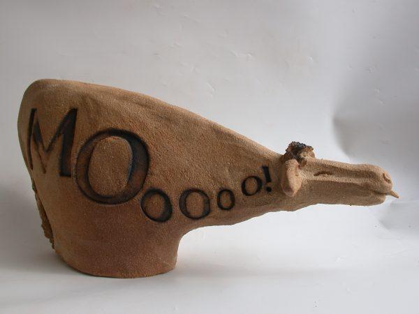 Cow, ceramic, mooing, handmade studio ceramics, jane adams ceramics