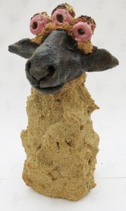 rogues gallery, sheep, rollers, clay, ceramics, handmade stoneware, studio pottery, cornwall, jane adams ceramics, glamorous