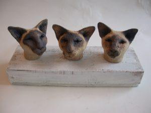 siamese cats, ceramic cats, jane adams ceramics, woodblock