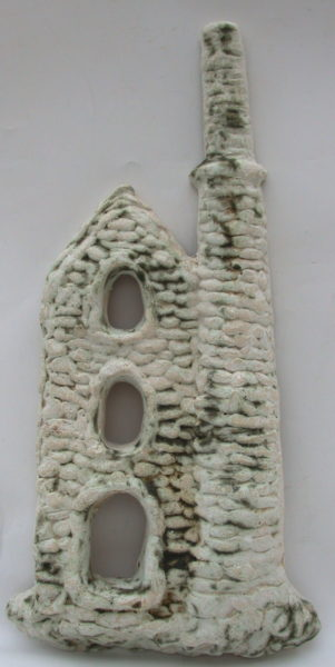 cornish engine house, wall plaque, stoneware, clay, handmade, Poldark, jane adams ceramics, cornwall