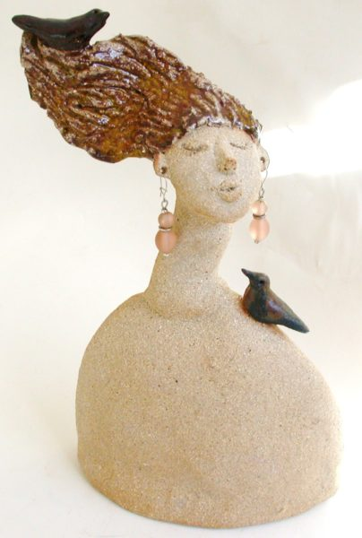 demelza, ceramic woman, woen, people, jane adams ceramics, handmade stoneware woman