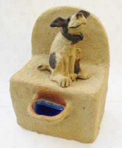 ceramic dog, well, handmade ceramics, jane adams ceramics, cornwall