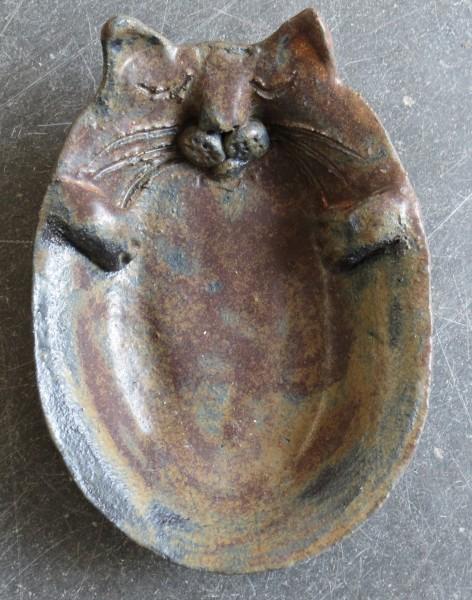 cat dish, cat bowl, ceramic bowl, handmade stoneware, jane adams ceramics