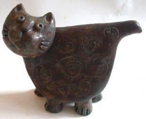 ceramic cat, lisa, scandinavian. scandi design, handmade, studio ceramics, jan adams ceramics