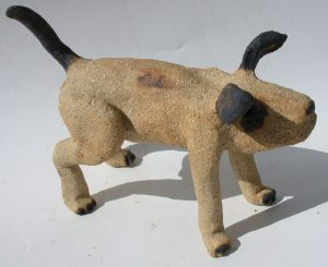 ceramic dog, pottery dog, clay dog, handmade stoneware, jane adams ceramics, cornwall