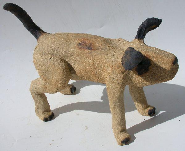 ceramic dog, pottery dog, clay dog, handmade stoneware, jane adams ceramics, cornwall