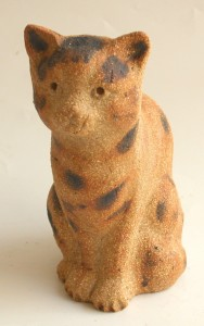 cat ornament, tabby cat, handmade ceramic cat, stoneware cat, jane adams ceranics