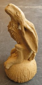 moongazzing hare, ceramic hare, jane adams ceramics, stoneware handmade hare,