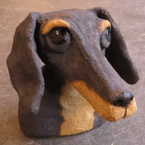 ceramic dogs, daschnud, jane adams ceramics