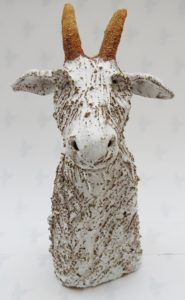 ceramic goat, billy goat, jane adams ceramics, rogues gallery
