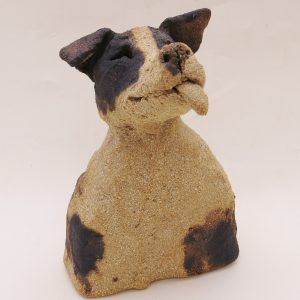 ceramic dogs, jane adams ceramics, rogues gallery