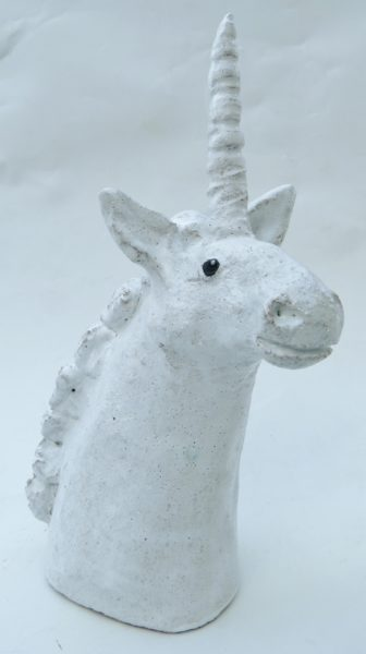 unicorn, ceramc. pottery, handmade, jane adams ceramics