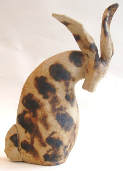 ceramic hares, pottery hare, ornament, handmade, jane adas ceramics