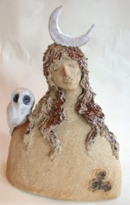 ceramic people, goddess, jane adams ceramics