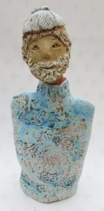 ceramic people, fisherman, jane adams ceramics