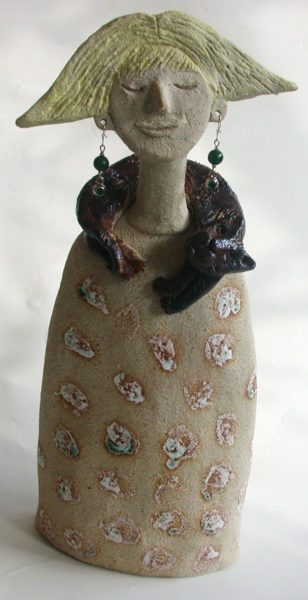 ceramic people, cats, jane adams ceramics