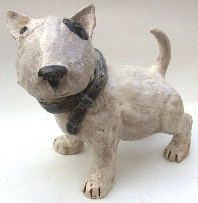 english bull terrier puppy jane adams ceramics