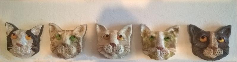 Five Cat Heads