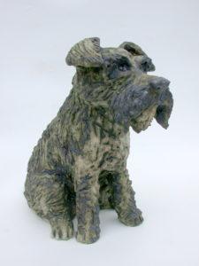 ceramic dog, handmade stoneware sculpture, jane adams ceramics, cornwall handmade