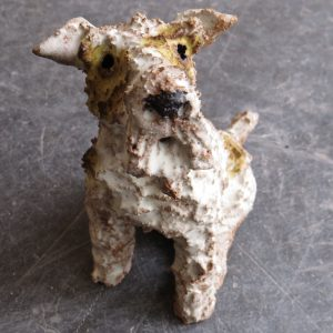 ceramic dog, fox terrier, jane adams ceramics
