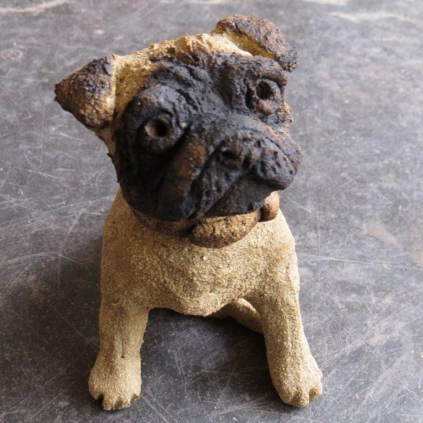 ceramic pug, ceramic dog, jane adams ceramics