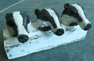 badgers, badger, ceramic badgers, pottery badgers, badger ornaments, handmade ceramics, jane adams ceramics