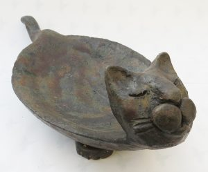 cat bowl, cat dish, handmade stoneware, stuido pottery, jane adams ceramics