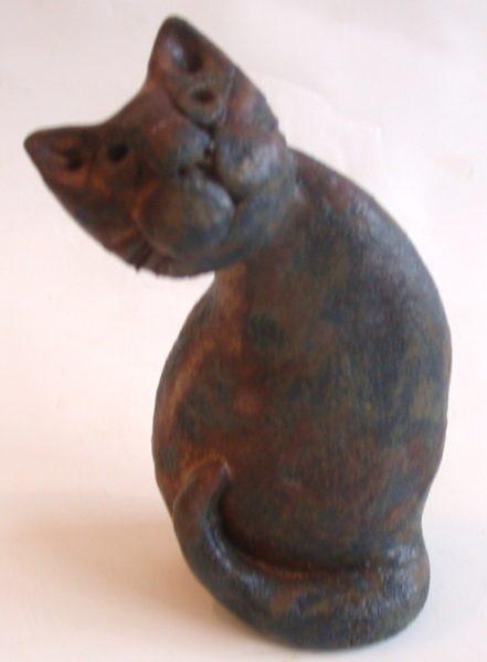 ceramic cat, handmade, pottery, jane adams ceramics, cat ornament
