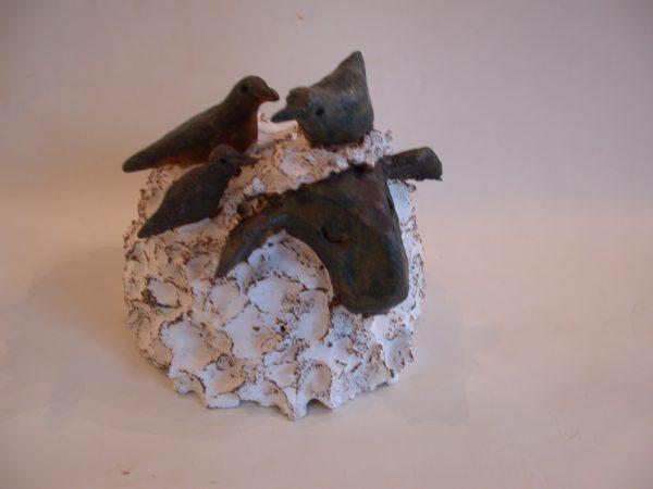 white sheep, ceramic sheep, handmade stoneware