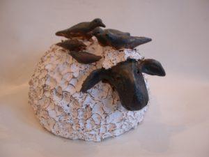sheep, birds, ceramics, pottery, jane adams ceramics