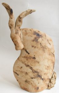 handbuilt stoneware, pottery hare, hare ornament, stoneware hares, jane adams ceramics