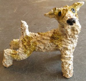 fox terrier, ceraiic, dog, stoneware, handmade, jane adams ceramics