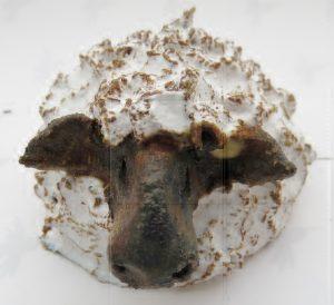 ceramic sheep, hand built, stoneware, jane adams ceramics