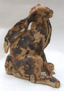 ceramic hare, sculpture, handmade, stoneware, pottery, jane adams ceramics