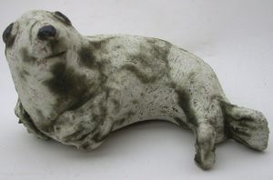 grey seal, ceramic seal, seal pup, jane adams ceramics, stoneware, studio pottery,