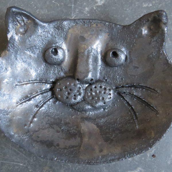 cat face ring/trinket dish black S