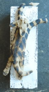 cat wall plaque, cat chasing bird, woodblock wall hanging, pottery cat, jane adams ceramics
