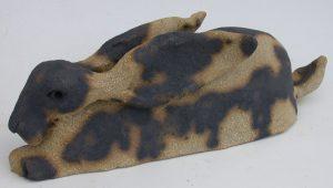ceramic hare, handmade, stoneware, jane adams ceramics