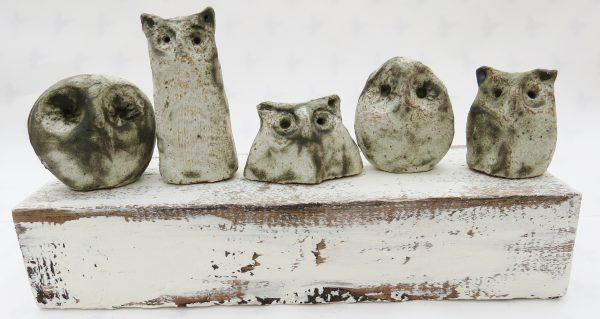 owls, woodblock, ornament, handmade pottery, stoneware, jane adams ceramics