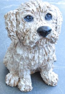 norfolk terrier, ceramic dog, pottery dog, handbuilt studio pottery, dog sculpture, jane adams ceramics, stoneware dog