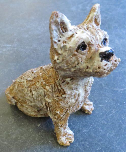 cairn terrier, ceramic terrier, handmade pottery, pottery dog, dog ornaments, stoneware, studio pottery dogs, jane adams ceramics