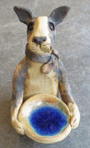 ceramic animals, animal, pottery dogs, ceramics dogs, bowl, studio pottery, handmade ceramic animals, jane adams ceramics