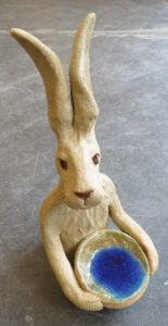 hare, ceramic hare, bowl, dish, handmade ceramic hares, hare ornaments, ptotery hares, handmade studio pottery, studio ceramics, jane adams ceramics