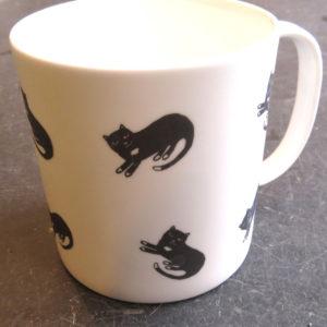 large bone china mug - sitting cat