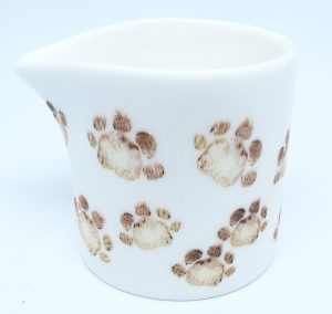 individual creamer, cream jug, small jug, tiny jug, pawprint designs, jane adams ceramics,