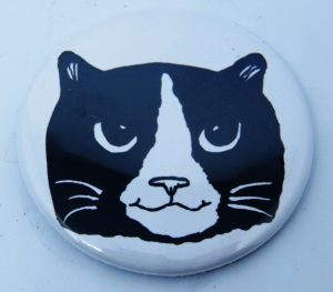 fridge magnet, round magnet, magnets, black and white cats, cat gifts