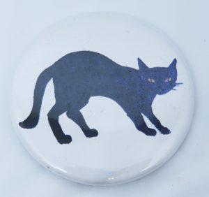 magnet, fridge magnet, cat magnets, black cat designs, jane adams, pawprint designs, cornwall