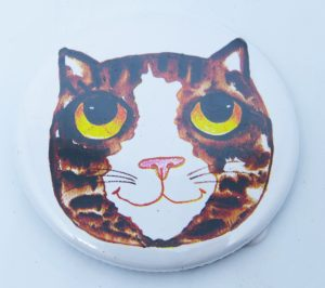 magnets, fridgemagnets, cat fridge magnets, tabby cats, cat presents, cat magnets, pawprint designs, jane adams